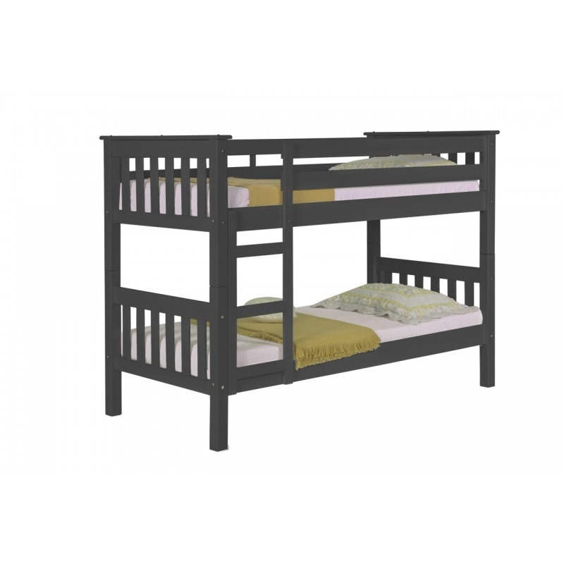 Barcelona bunk bed graphite with x2 eco mattresses for Jay be bunk bed