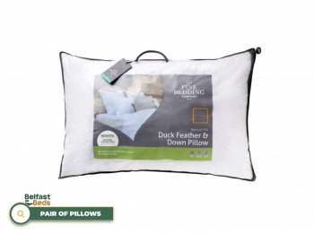 Duck Feather And Down Pillow Pair